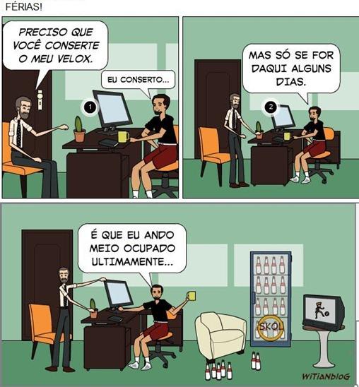 FÉRIAS É FÉRIAS - Tirinhas Blog de CAMPEÃO - WiTiaNblog