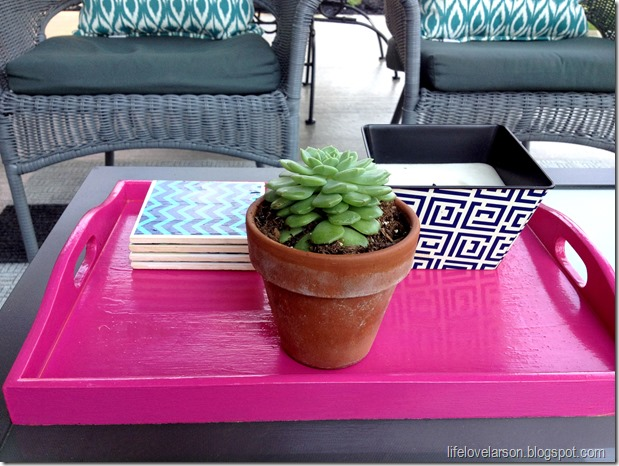DIY Laquered Tray 1