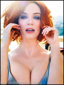 Christina Hendricks linda sensual sexy sedutora decote peito desbaratinando (6)