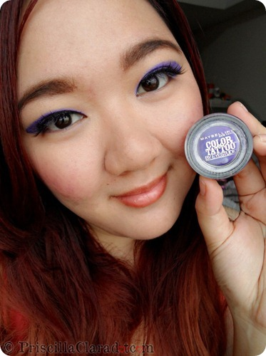 Priscilla Clara beauty blogger IBB MUC Maybelline Color Tattoo Painted Purple eye makeup FOTD 10