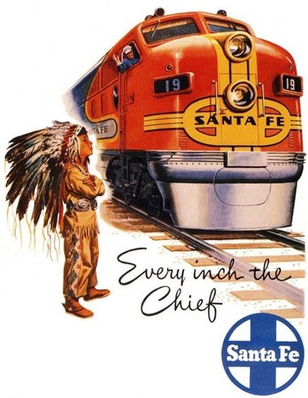 poster tren vechi