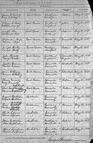 THORNTON_Orman S_birth record 1888_Michigan_page 2 of 2