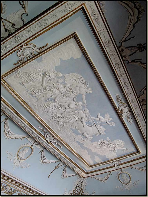 Shugborough - Plasterwork ceiling by Vassalli