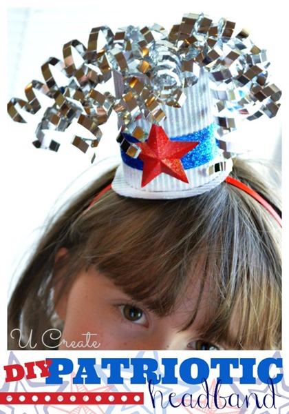 DIY Patriotic Headband at u-createcrafts.com