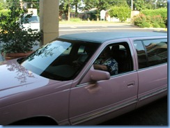 8092 pink limo from Marlowe's Ribs & Restaraunt (our free ride) - Memphis, Tennessee