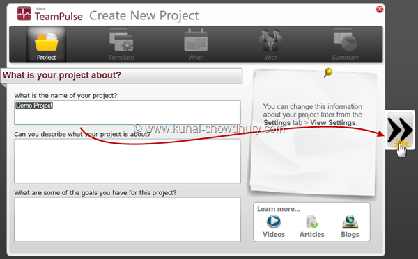 1. Create New Project