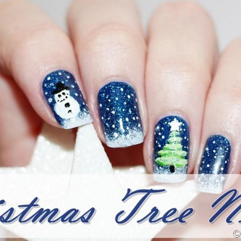 [Nail Art] Weihnachtsbaum, endlich Dezember :)