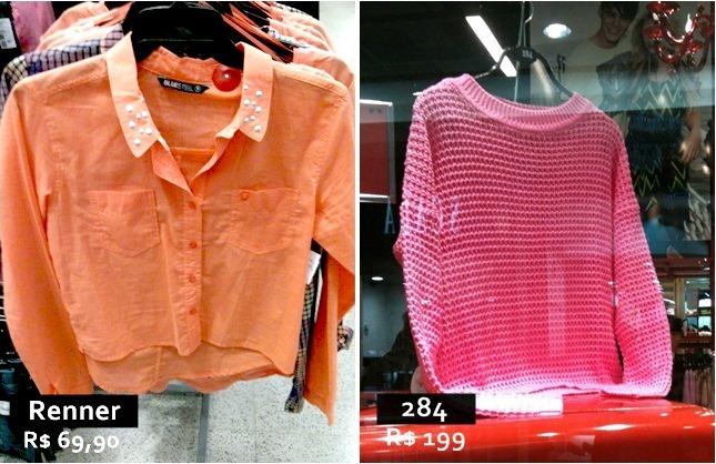 Tendência Verão 2013 – Confira a moda dos tons Pastel e Neon invadindo as vitrines.
