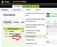 dns manager in godaddy