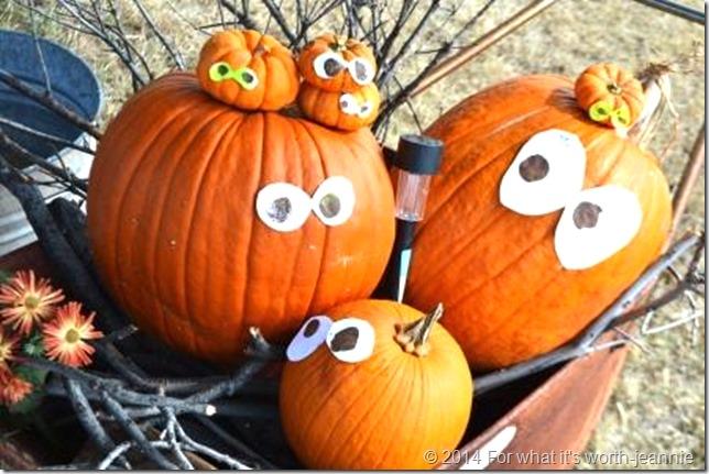 DIY no carve Halloween pumpkins, kid activity