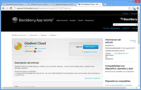 Free Gladinet Cloud - Download Gladinet Cloud - Free Apps from BlackBerry App Wo_2012-10-11_13-51-48
