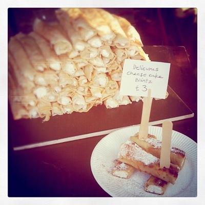 BlintzBoy's cheesecake and cinnamon pancake