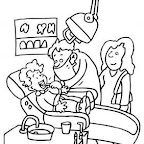 Dibujo Dia del Trabajador - Dentista 2