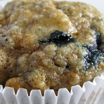 Whole Wheat Blueberry Banana Bread Muffins
