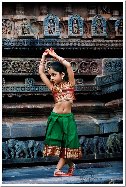 Girl Performing Bharat Natyam