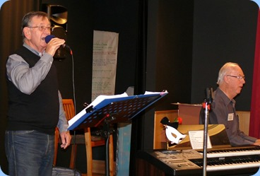 Len Hancy (vocals) and Peter Brophy on Korg Pa3X entertaining us. Photo courtesy of Dennis Lyons.