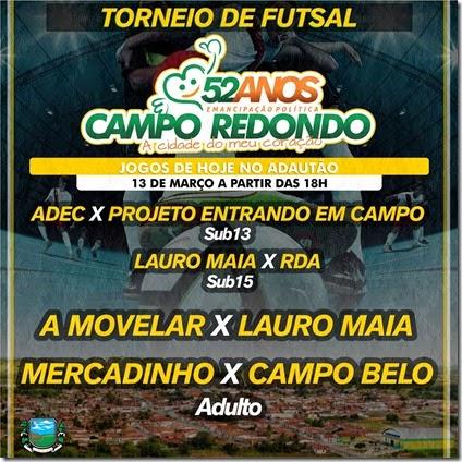 Futsal - 52 anos Campo Redondo -