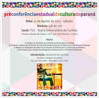 Pré Conferência Estadual de Cultura de Curitiba
