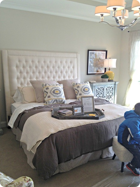 large tufted headboard