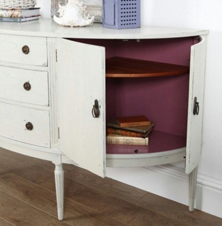 inside white sideboard