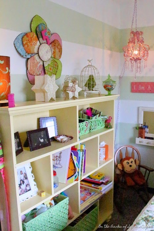 custom yellow bookcase