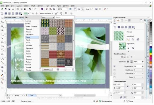 giao dien CorelDRAW Graphics Suite X7
