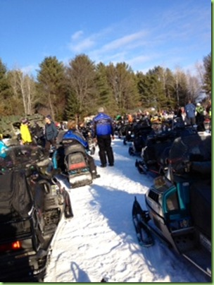 snowmobile ride for dad