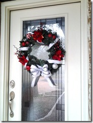red & silver wreath