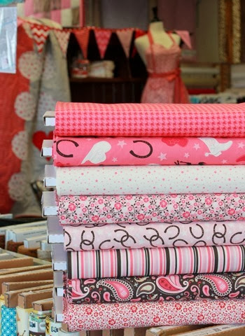 round up fabrics from Riley Blake at The Fabric Mill