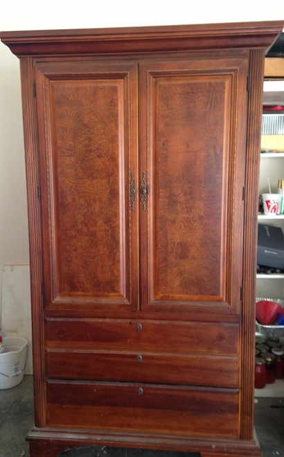 stained wood armoire my armoire makeover painting it navy emily a clark