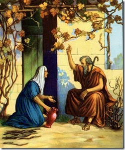 Elijah and the widow. (Image courtesy of lavistachurchofchrist.org. Picture is in the public domain.)