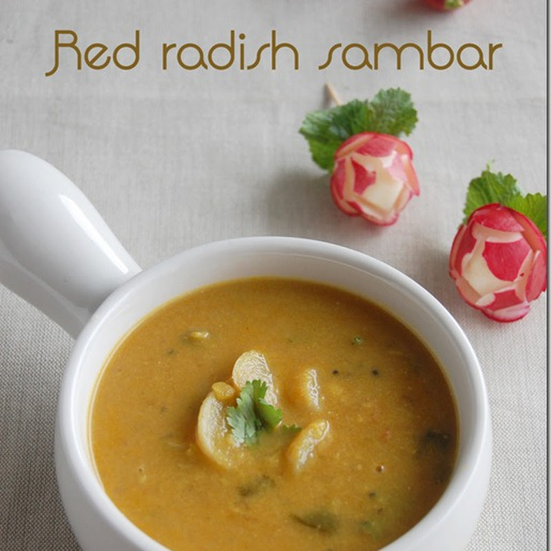 Red radish sambar