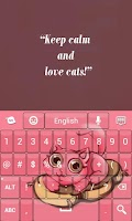 Screenshot of Cute Cat Keyboard
