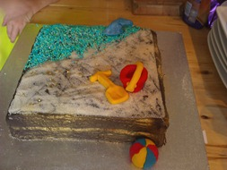 Beach Cake Front