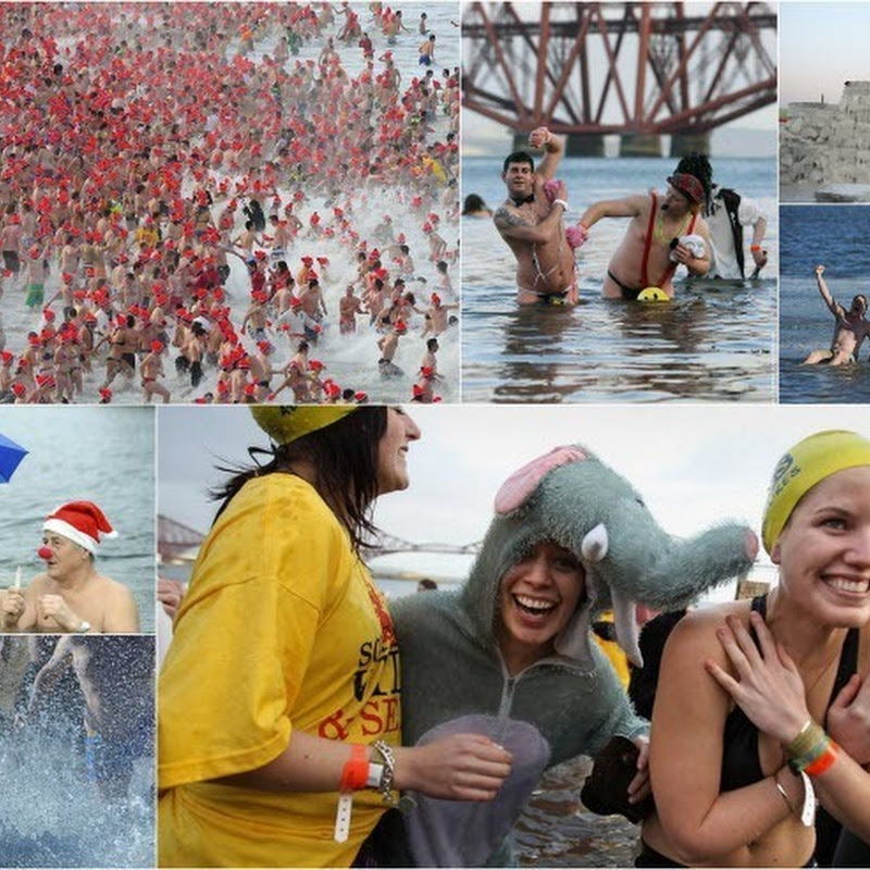 New Year's Winter Swim Around the World