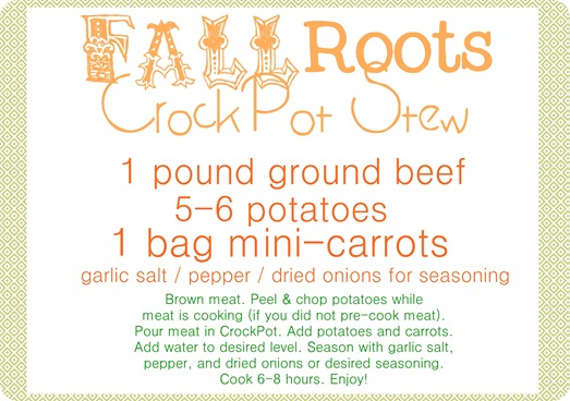 roots recipe