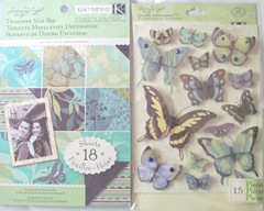 AAWA Birthday club Liane butterfly stickers paper