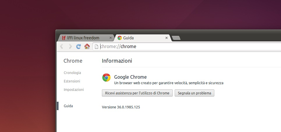 Google Chrome 36 Stabile