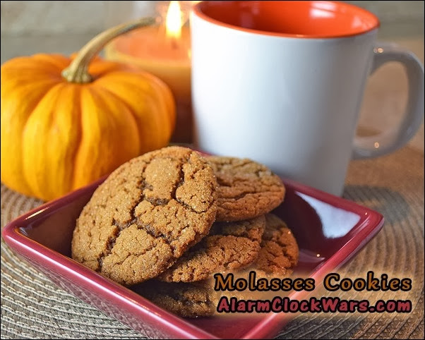 molasses cookies with candle