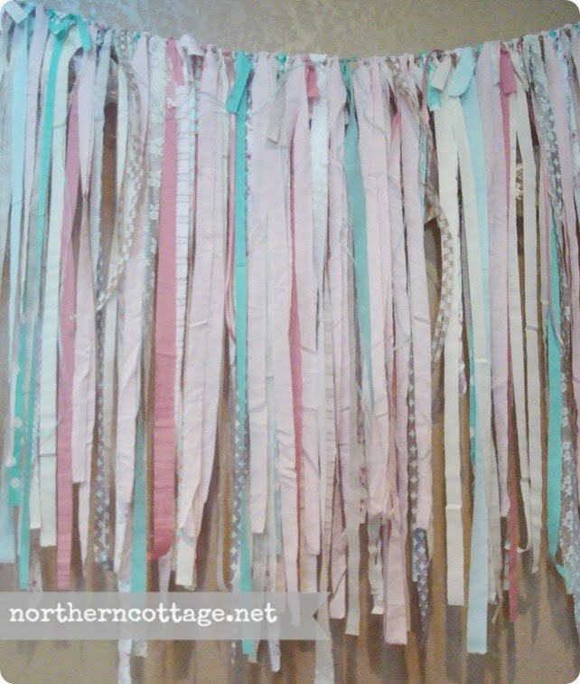 {Northern Cottage} custom garland backdrop