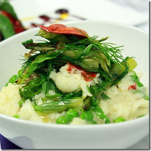 Risotto-lobster-pea-fennel