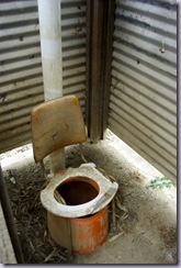 "Wonderful example of creativity in the bush - this is the ""drop"" toilet."