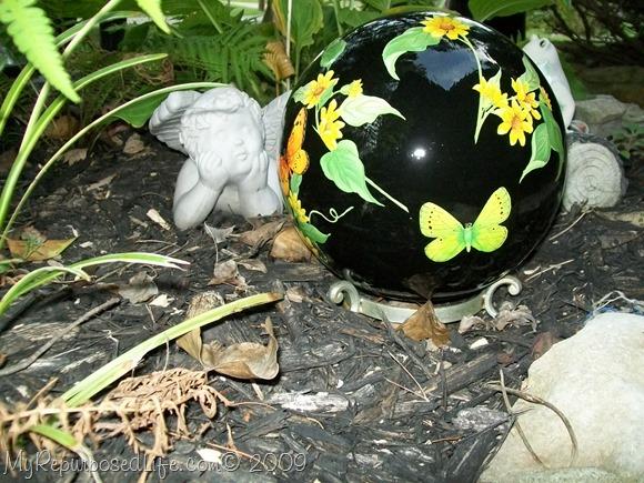 bowling ball gazing ball