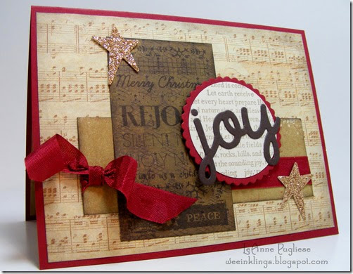 LeAnne Pugliese WeeInklings Musical Joy Christmas Card