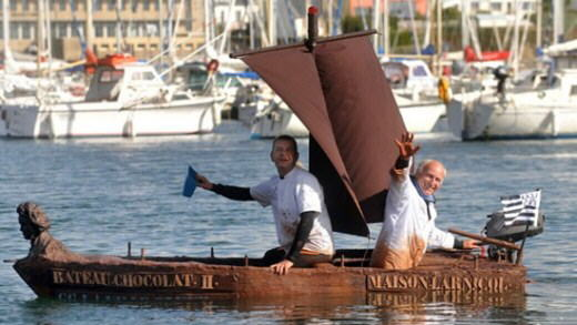Chocolate Boat by George Larnico from the walled city of Concarneau, in north-western France