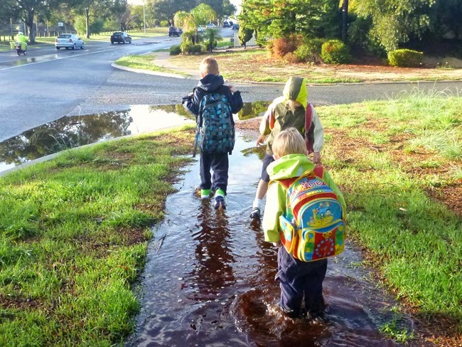 virtù - walk safely to school day and through puddles if you can
