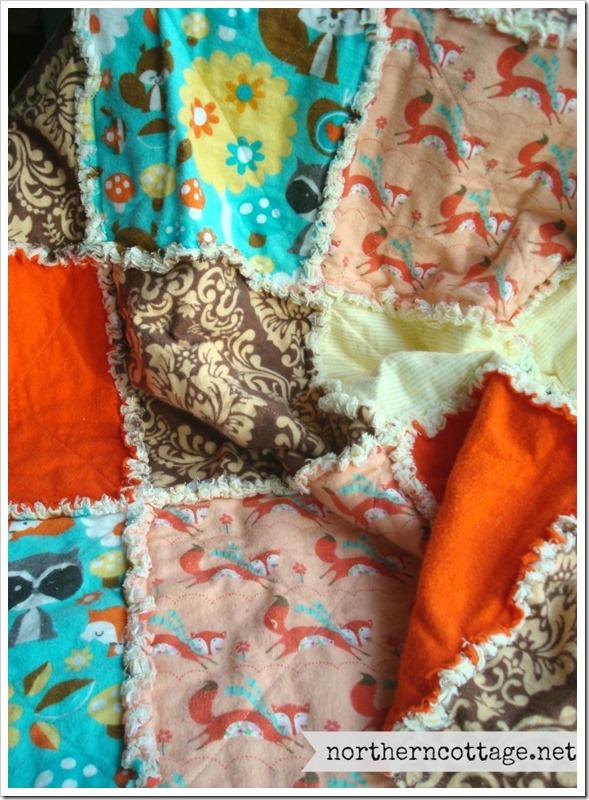 {Northern Cottage} cuddle up woodland quilt