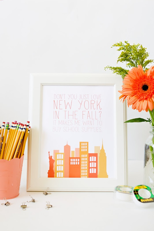 You've got Mail New York in the Fall Print