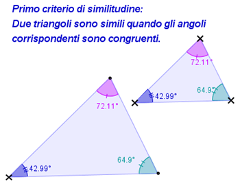 1° criterio similitudine triangoli