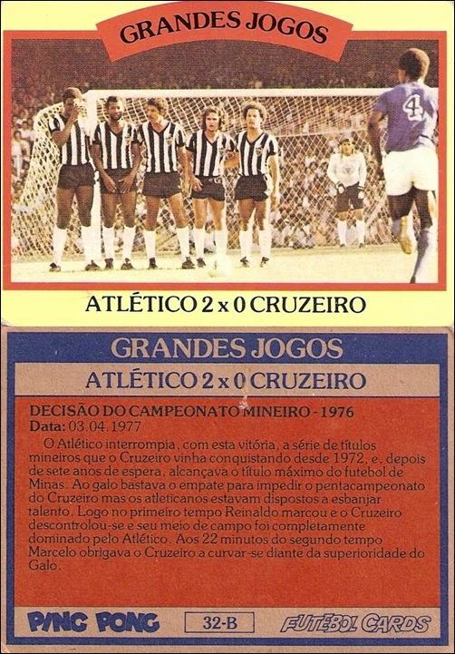 32-B - Atlético 2x0 Cruzeiro